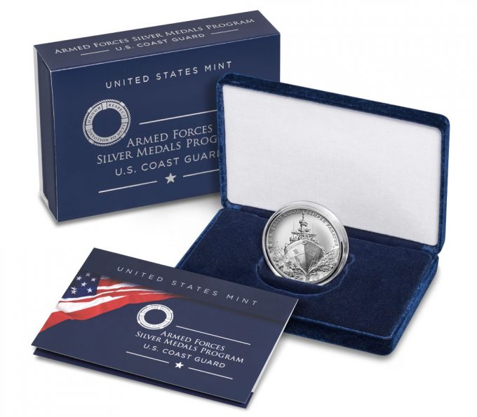 US Mint product images Coast Guard Silver Medal