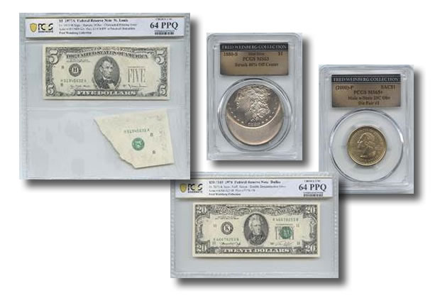 Weinberg Selection Coin and Currency Errors