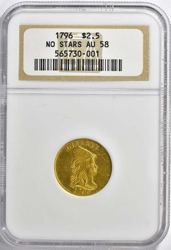 1796 Capped Bust Right Gold Quarter Eagle No Stars