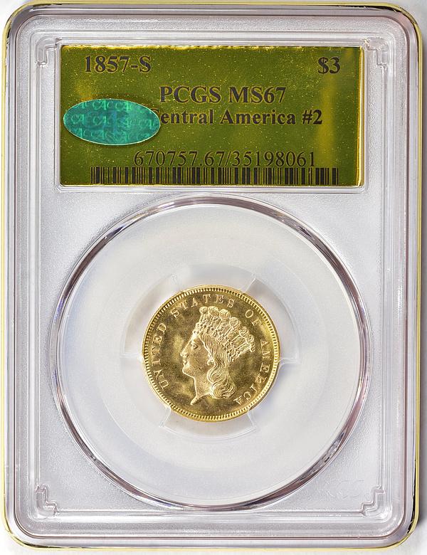 1857-S Three-Dollar Gold Piece