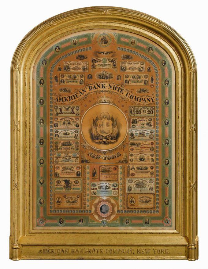 1890's American Bank Note Company, New York Presentation Frame.