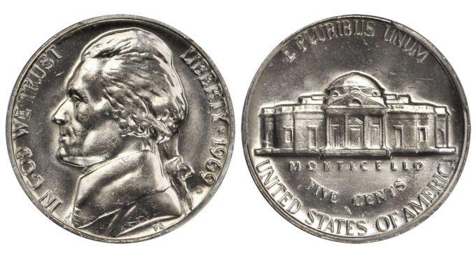 1969-D Jefferson Nickel. MS-65 FS (PCGS).
