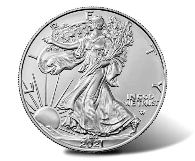 2021-W Uncirculated American Silver Eagle (obverse)