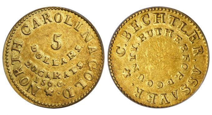 Bechtler $5 Gold