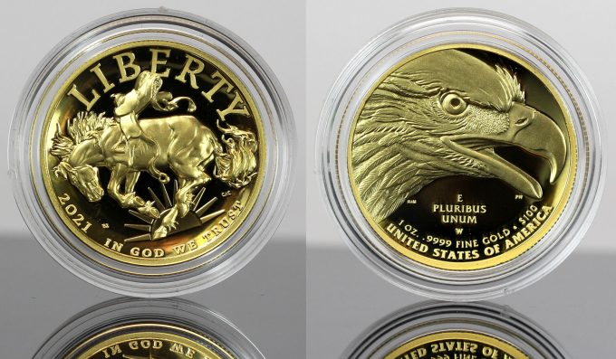 CoinNews Photo 2021-W $100 Proof American Liberty Gold Coin