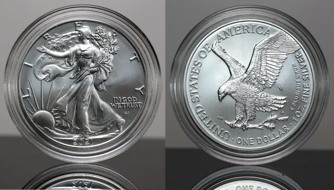 CoinNews photos 2021-W Uncirculated American Silver Eagle (obverse and reverse)