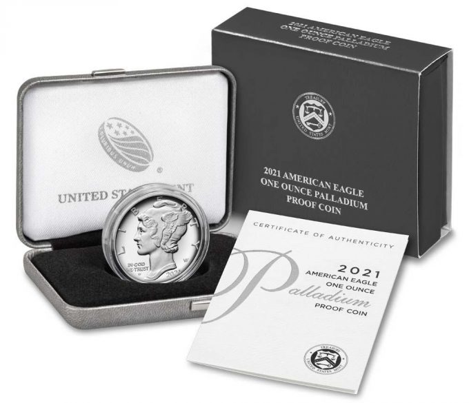 Mint Product Images 2021-W $25 Proof American Palladium Eagle