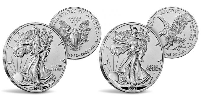 Mint images 2021 S&W Reverse Proof American Silver Eagles