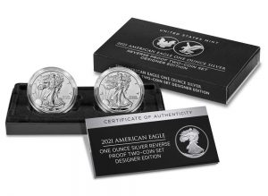 U.S. Mint product images of the two-coin set