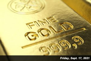 Gold ended the week at its lowest price since Aug. 10