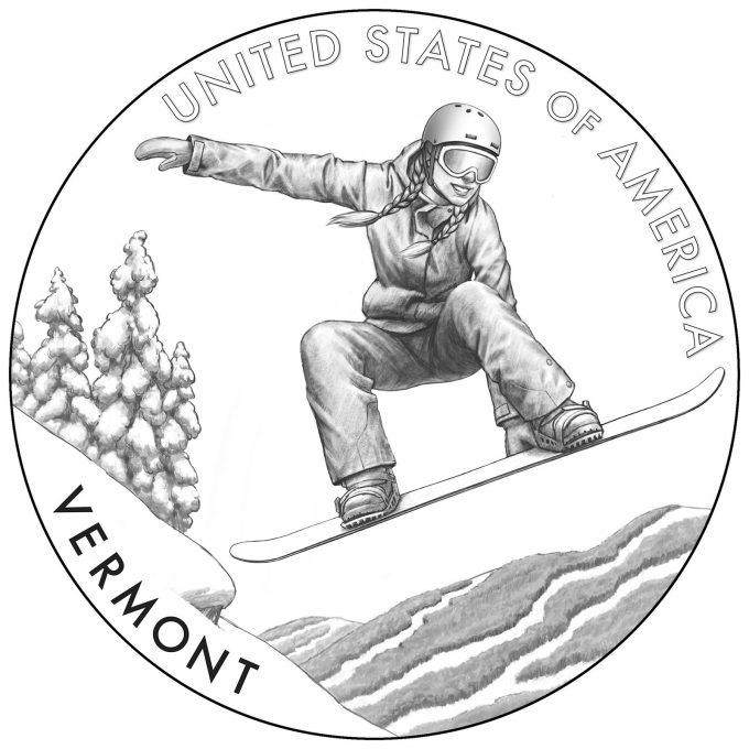 2022 American Innovation Dollar Design for Vermont