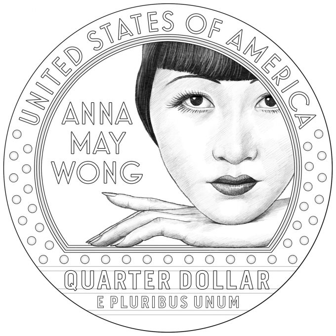 2022 American Women Quarter for Anna May Wong