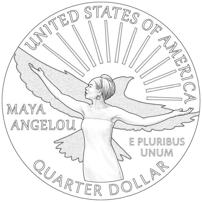 2022 American Women Quarter for Maya Angelou