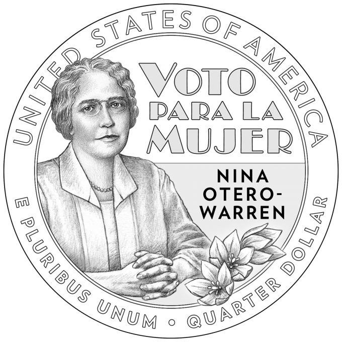 2022 American Women Quarter for Nina Otero-Warren