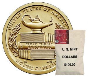 Bag of 2021-D American Innovation Dollars for North Carolina