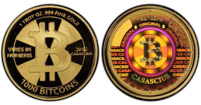 Gold Cas 1000 BTC coin