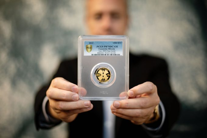 Ian Russell holds Gold Cas