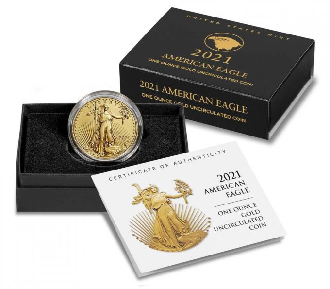 U.S. Mint product images 2021-W $50 Uncirculated American Gold Eagle