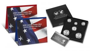 U.S. Mint product images of their uncirculated 2021 Mint Set and 2021 Limited Edition Silver Proof Set